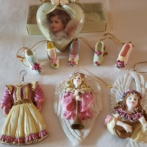 Collection of Victorian style ornaments